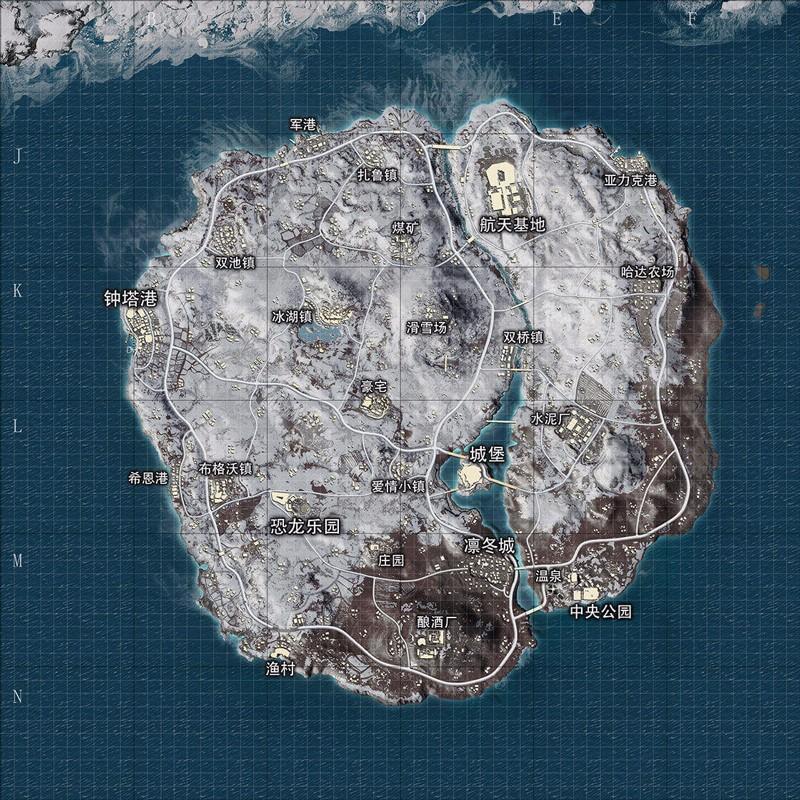 和平精英雪地地图高清图片