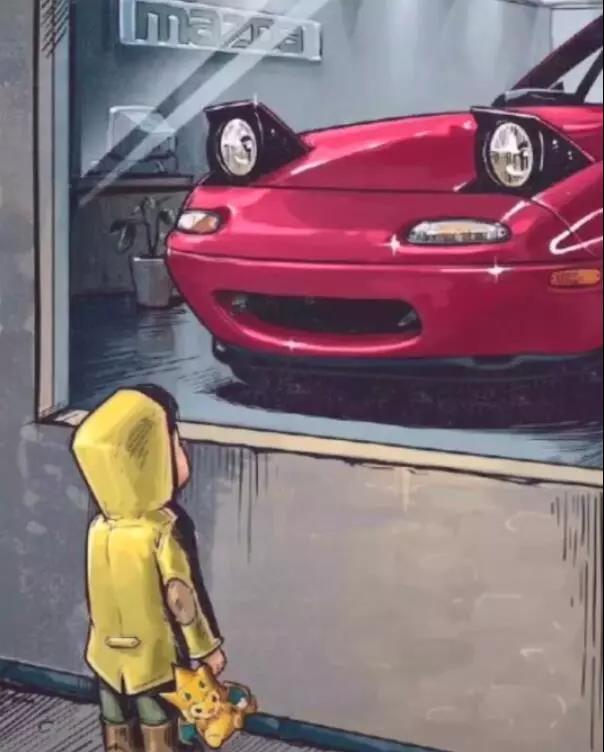 橱窗外的小男孩图片 橱窗外看车的小男孩图片大全
