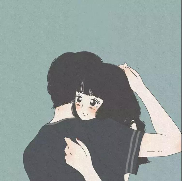 情侣头像抖�_抖音超火插画系列情侣头像