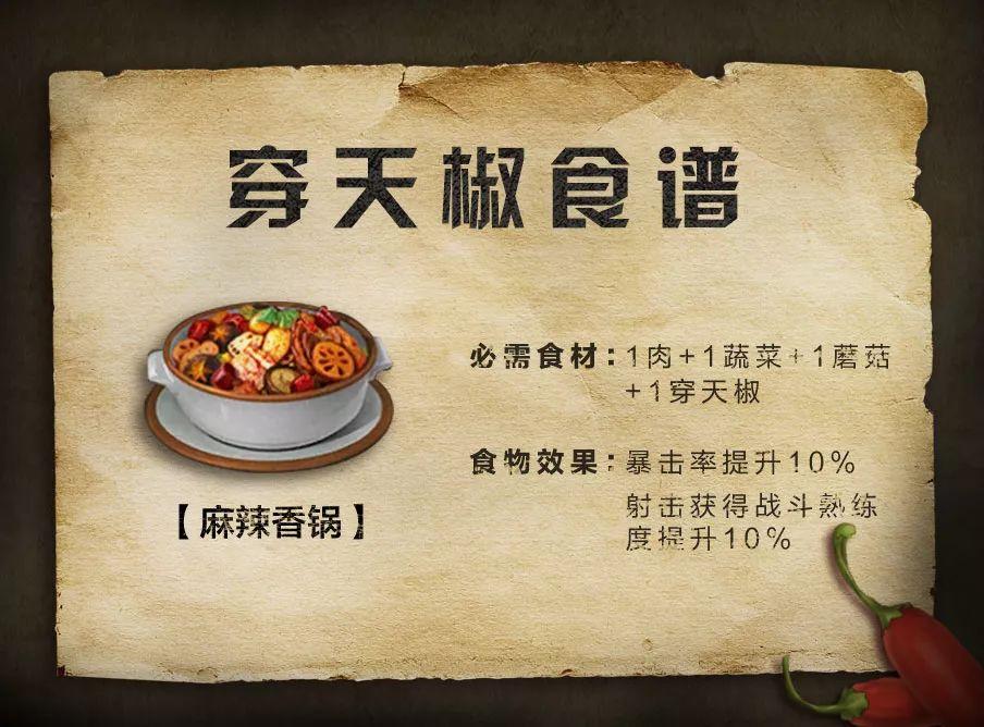 明日之后穿天椒食谱大全穿天椒做法腌菜花岗岩能汇总吗图片